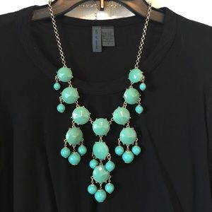 Jewelry - Costume Jewelry Statement Necklace Turquoise Gold